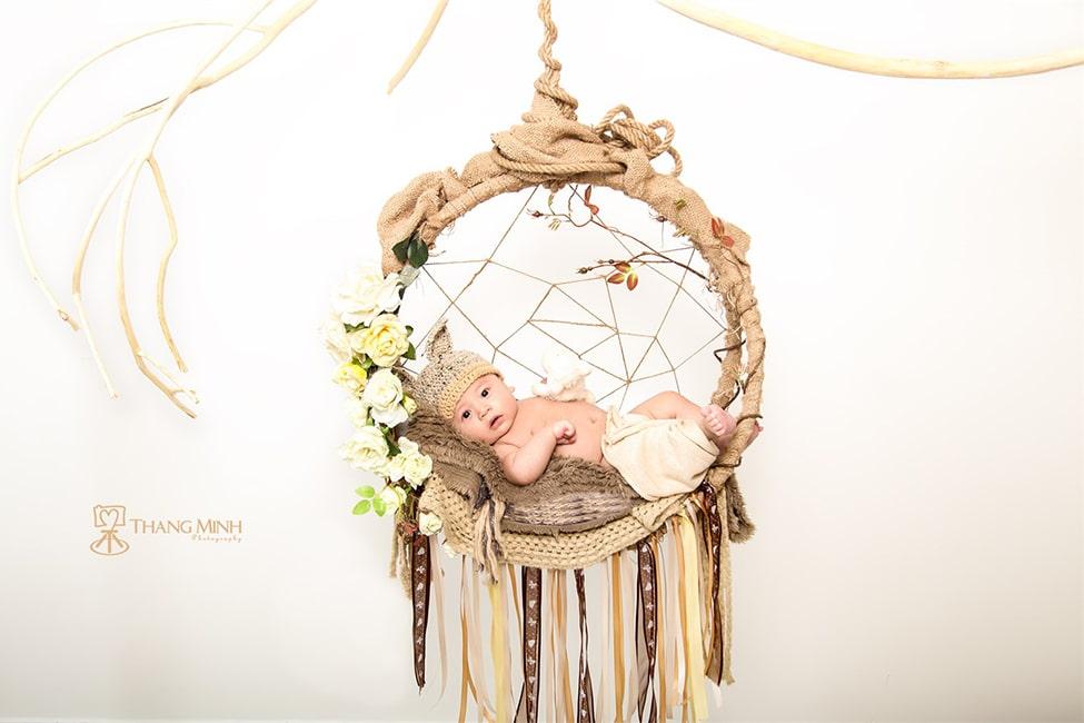 Studio chụp hình em bé 10 tuần tuổi