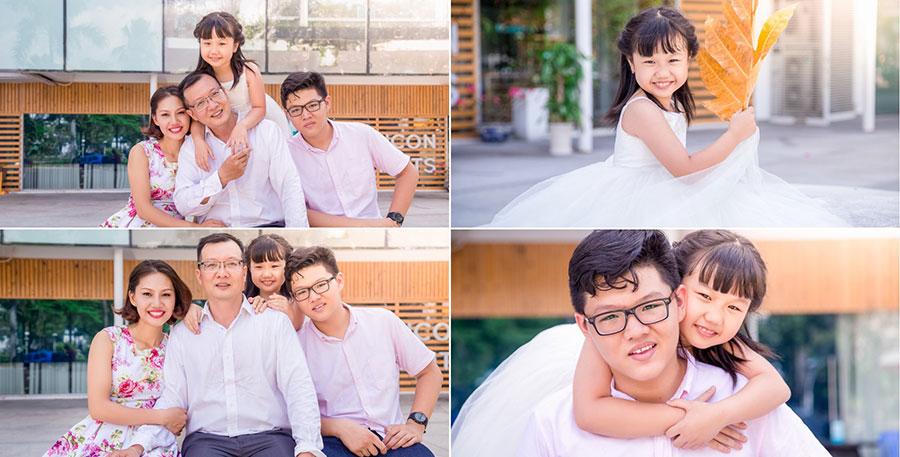 Chụp hình ngoại cảnh gia đình